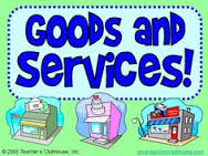 Goods and services sign and pics