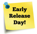 Early release day sticky note