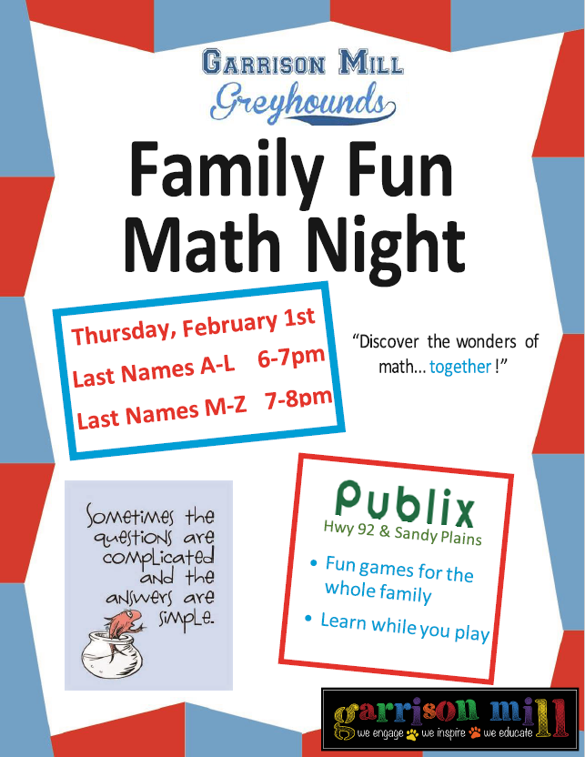 Publix Math Night 2018