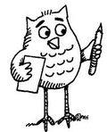 Writing owl