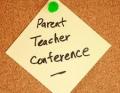 Conference parent teacher note