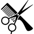 Haircut scissors and comb