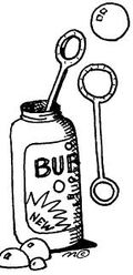 Bubbles container