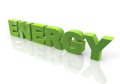 Science energy green sign
