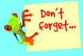 Don't forget frog