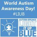 World autism awareness day light it up blue