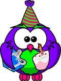 Birthday owl and present