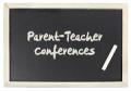 Conference parent teacher chalkboard