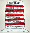 Dr seuss hat with reading...