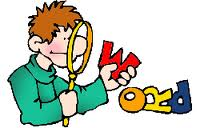 Word magnifying glass