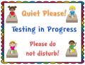 Test in progress quiet