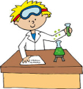 Science experiment with a boy