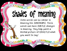 Shades of meaning definition